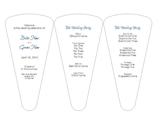 6 Pretty And Easy Diy Wedding Ceremony Program Templates