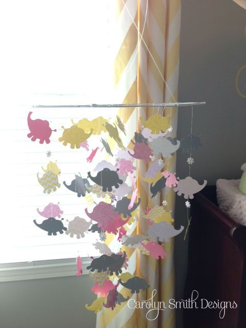 This elephant nursery mobile was easy to make.  http://www.carolynsmithdesigns.com/2013/10/23/nursery-mobile/