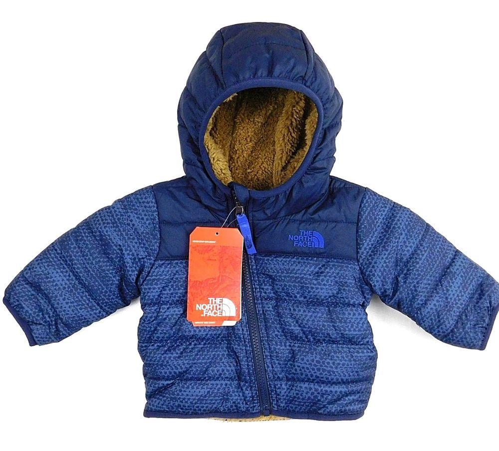 7d32574182 The North Face Mount Chimboranzo Cosmic Blue Brown Reversible Fleece Coat 3-6  m  TheNorthFace  Coat  Everyday