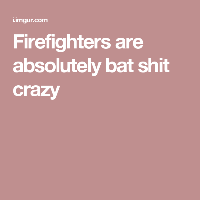 Firefighters are absolutely bat shit crazy