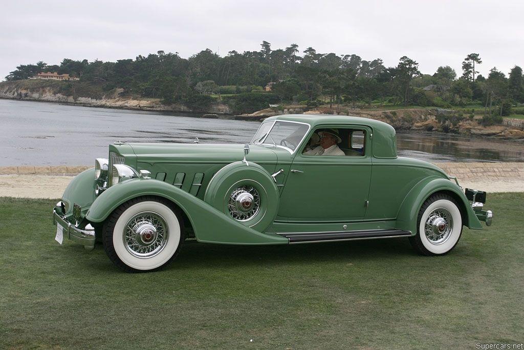 1934 Packard Twelve 5-passenger Coupe 1107-737 luxury retro ...