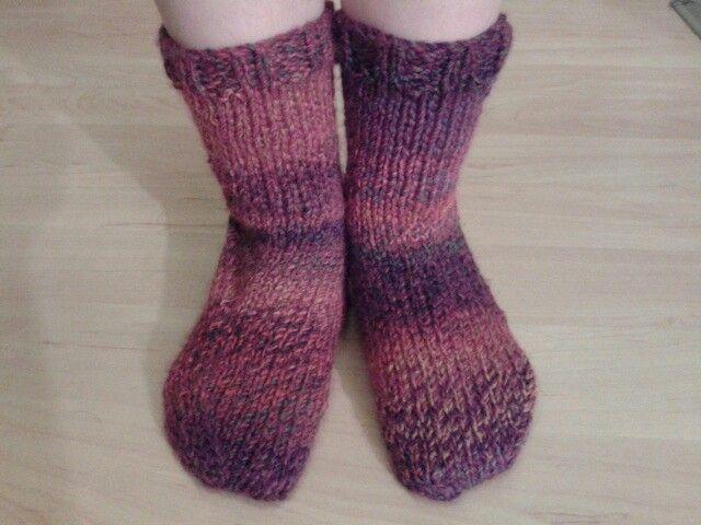 Chunky Socks Pattern - knitted in James C Brett Marble ...