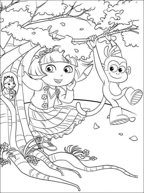 Dora the Explorer Coloring Pages 97   coloring pages   Colores, Dora ...