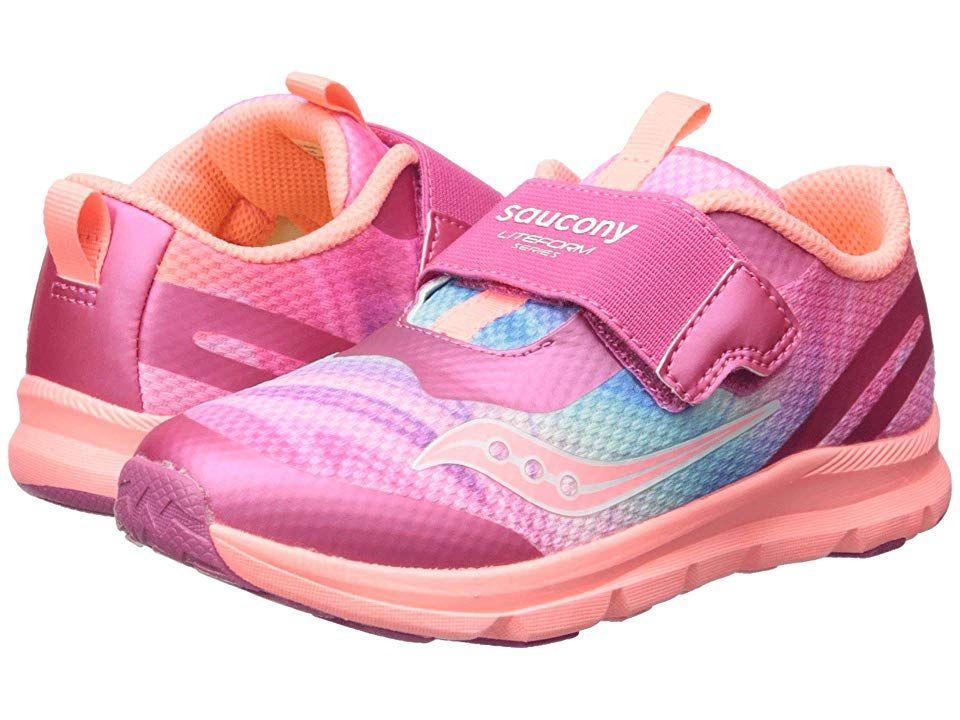c555585b Saucony Kids Liteform (Toddler/Little Kid) Girls Shoes Pink/Multi ...