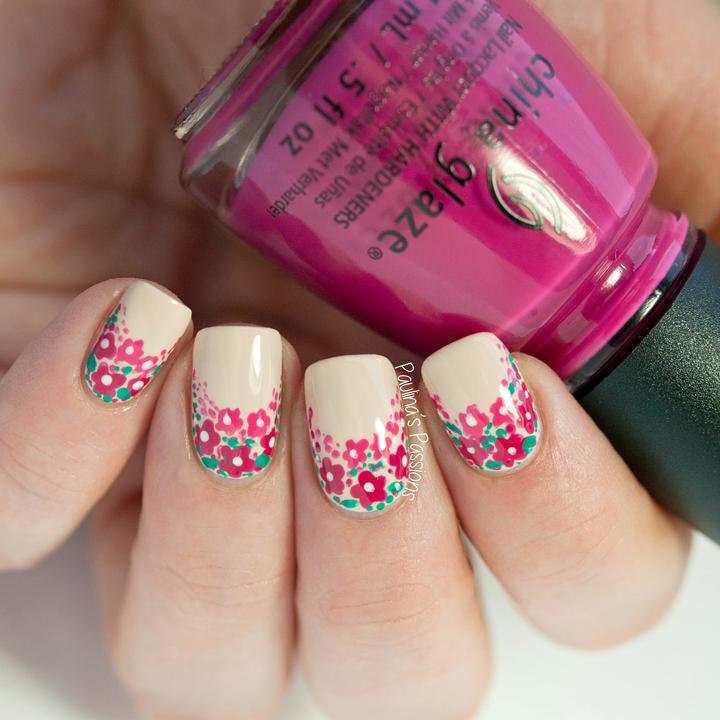 's nail art floral