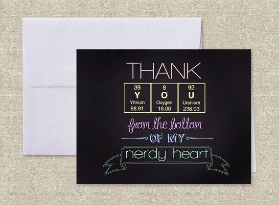Periodic table of elements thank you card nerdy by adornedheart periodic table of elements thank you card nerdy by adornedheart urtaz Gallery