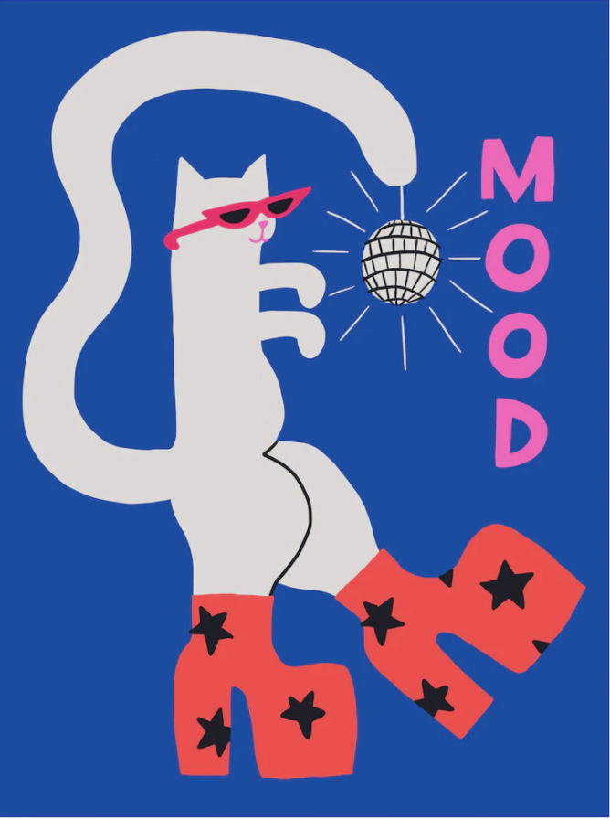 Mood Cat Art Print