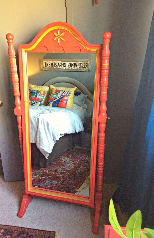 Rare Hard To Find 1960 S Stanley Furniture Red Ole Children S Standing Mirror Furniture Stanley Furniture Red Furniture