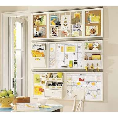 Wall Organizer Idea From Pottery Barn For Organizing Orders And To Do Lists Maybe Command Center