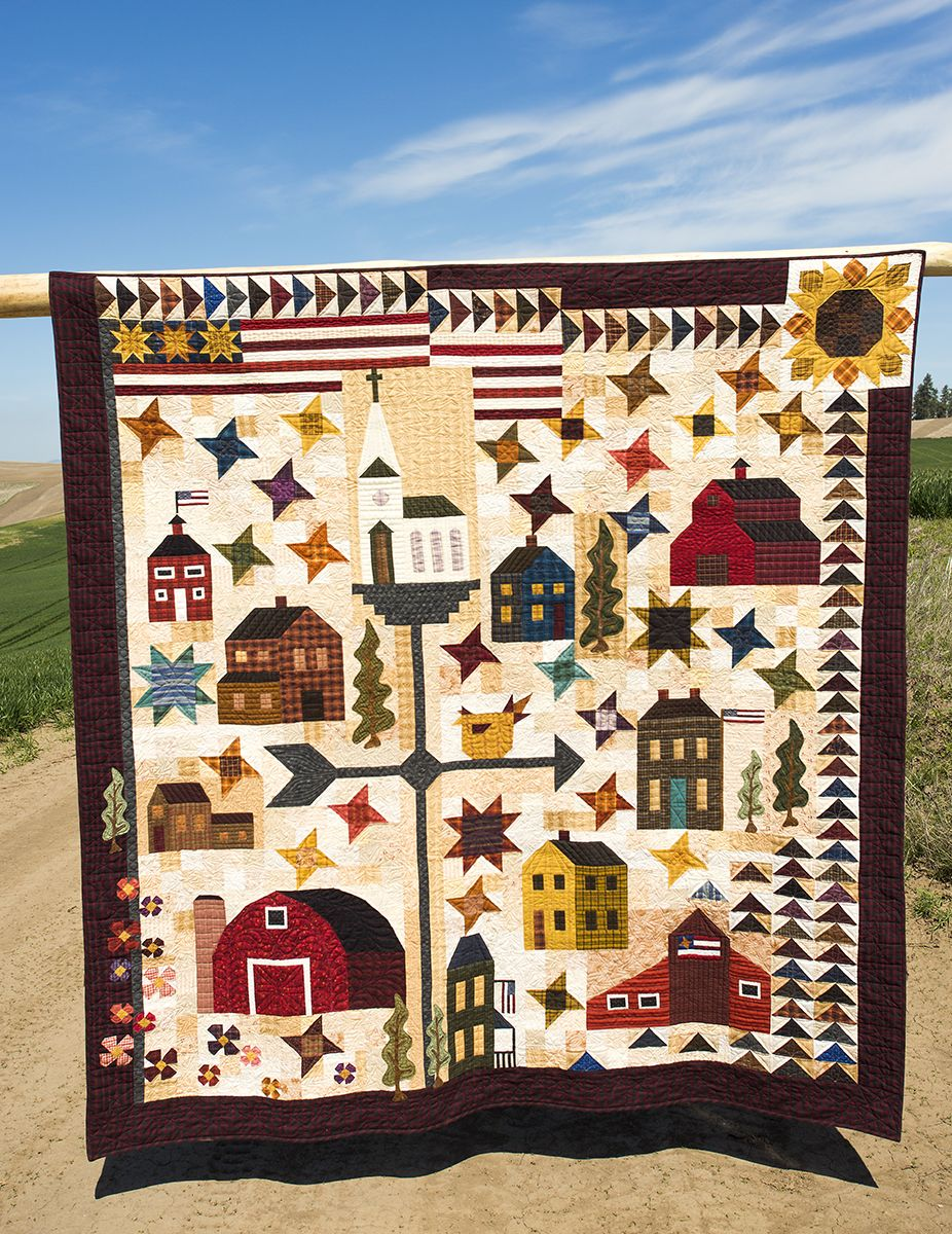 My Home Town C2015 Janet Rae Nesbitt One Sister from the book Down ... : barn quilts book - Adamdwight.com