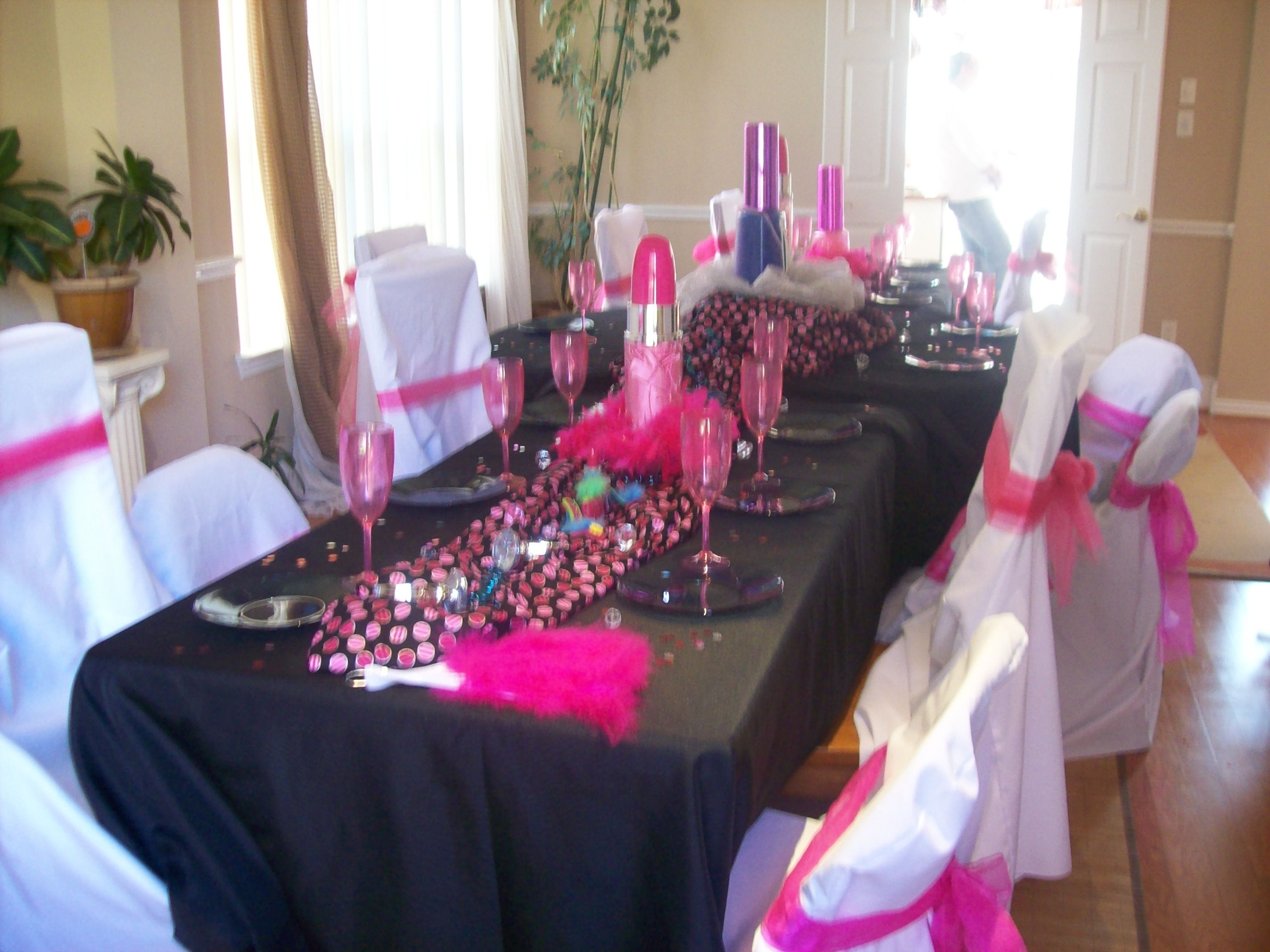 Simple birthday table decoration ideas - Birthday Party Ideas Decorations For Fashion Show Parties Fashion Diva Table Settings Available