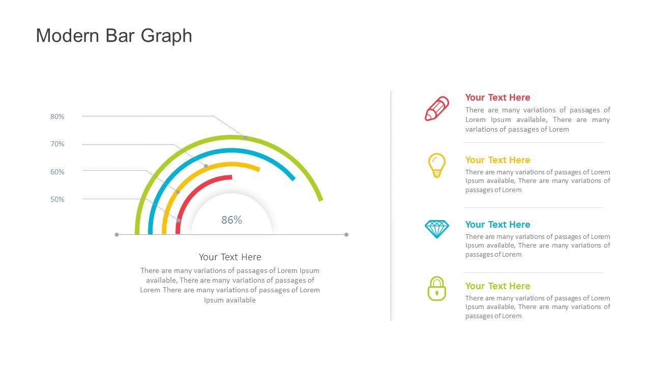 Modern Bar Graph For Powerpoint Fully Editable Powerpoint Slides Instant Download Bar Graphs Graphing Powerpoint