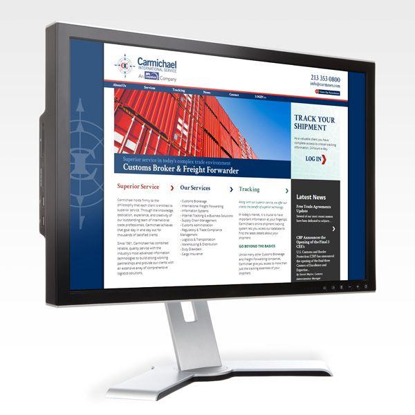 Carmichael International Service - Website Design Custom
