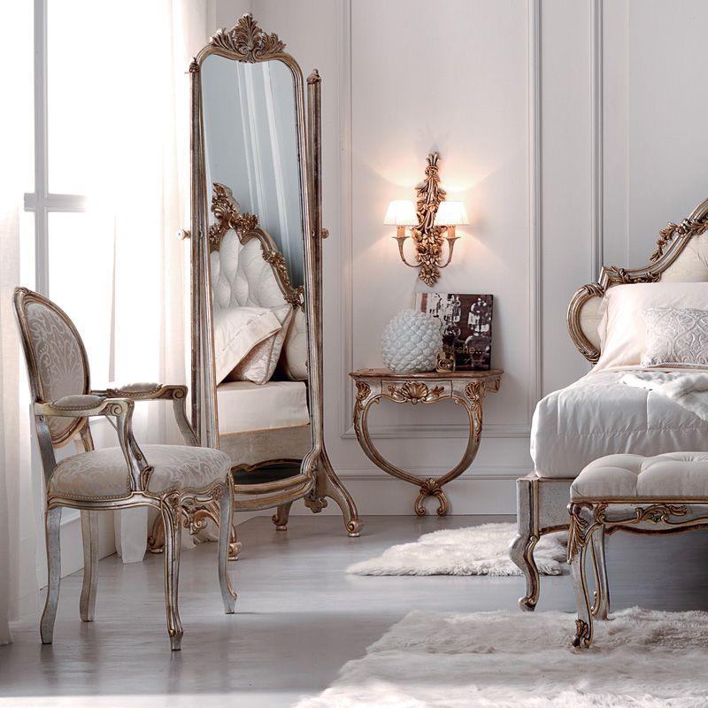 Photo of Ornate Rococo Freestanding Full Length Mirror – Juliettes Interiors