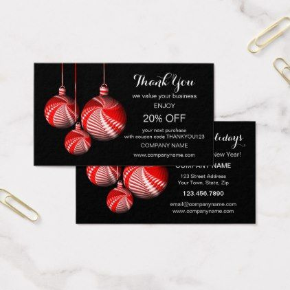 Stylish christmas thank you business card template diy cyo stylish christmas thank you business card template cheaphphosting Choice Image