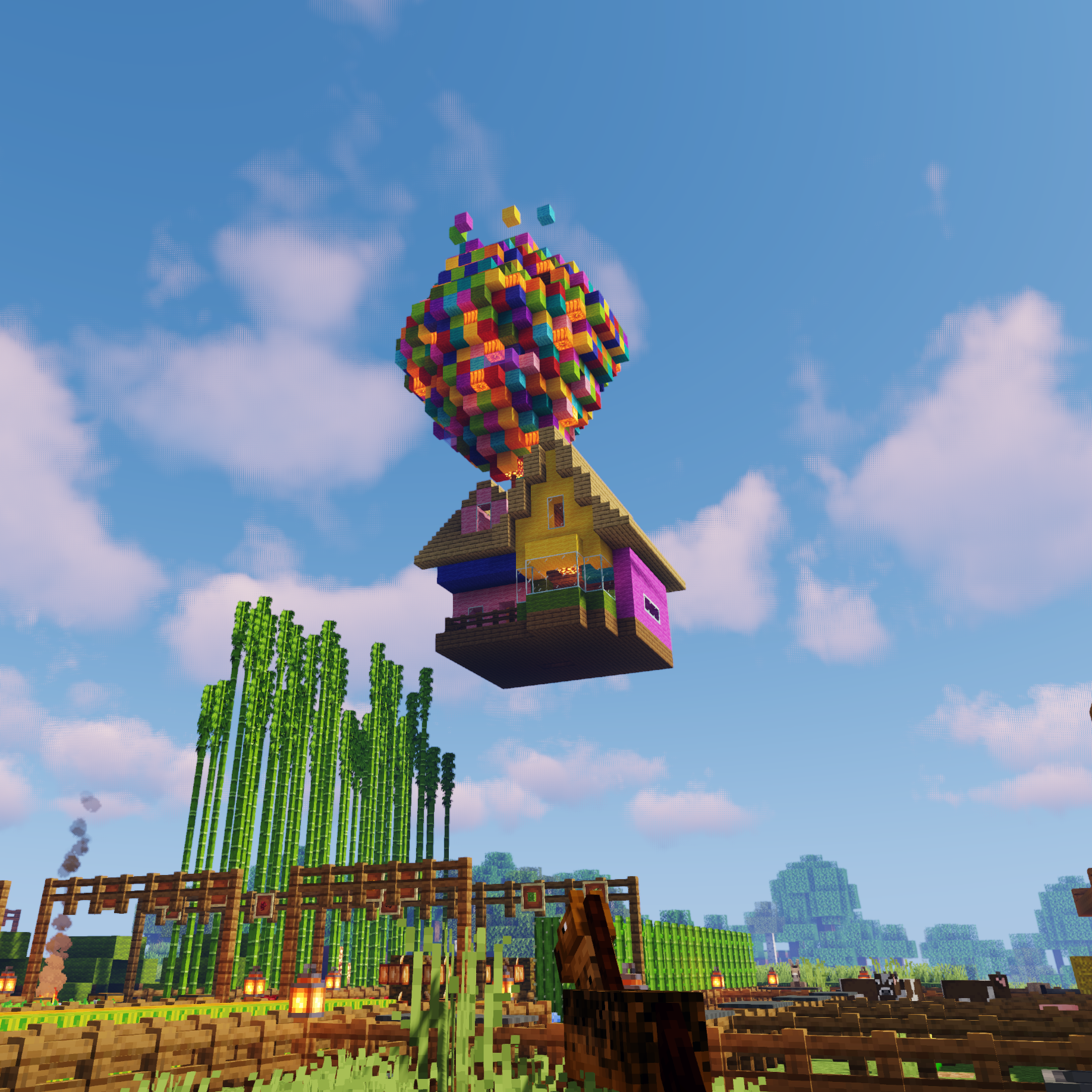 Pixar floating Up house - made in Minecraft  Amazing minecraft