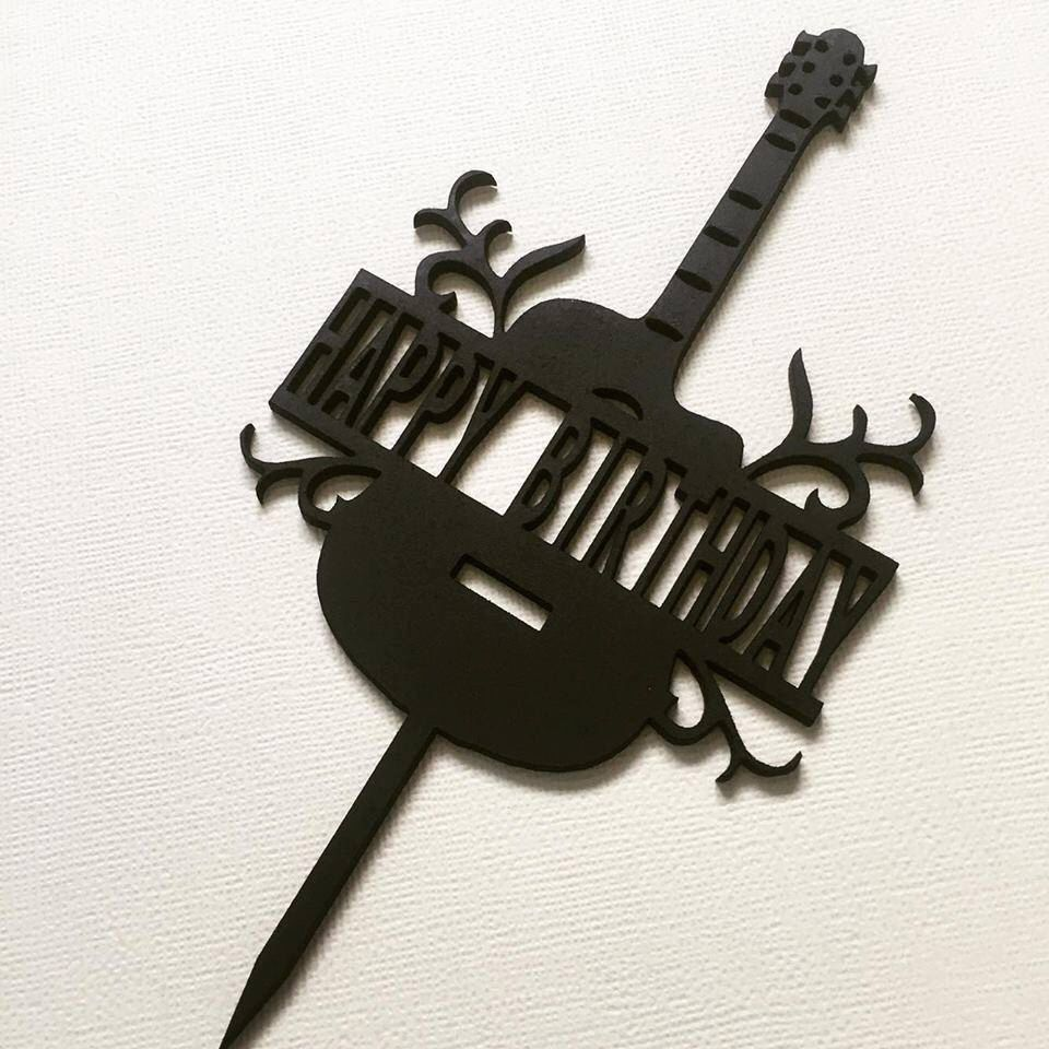 Guitar Music Cake Topper Custom Cake Topper Cake Decoration Cake
