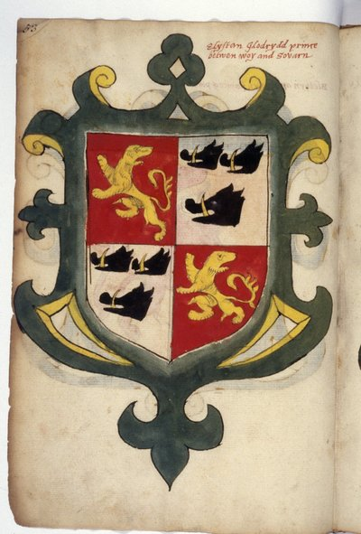 Coats of arms of princes and lords of Wales. in 2020