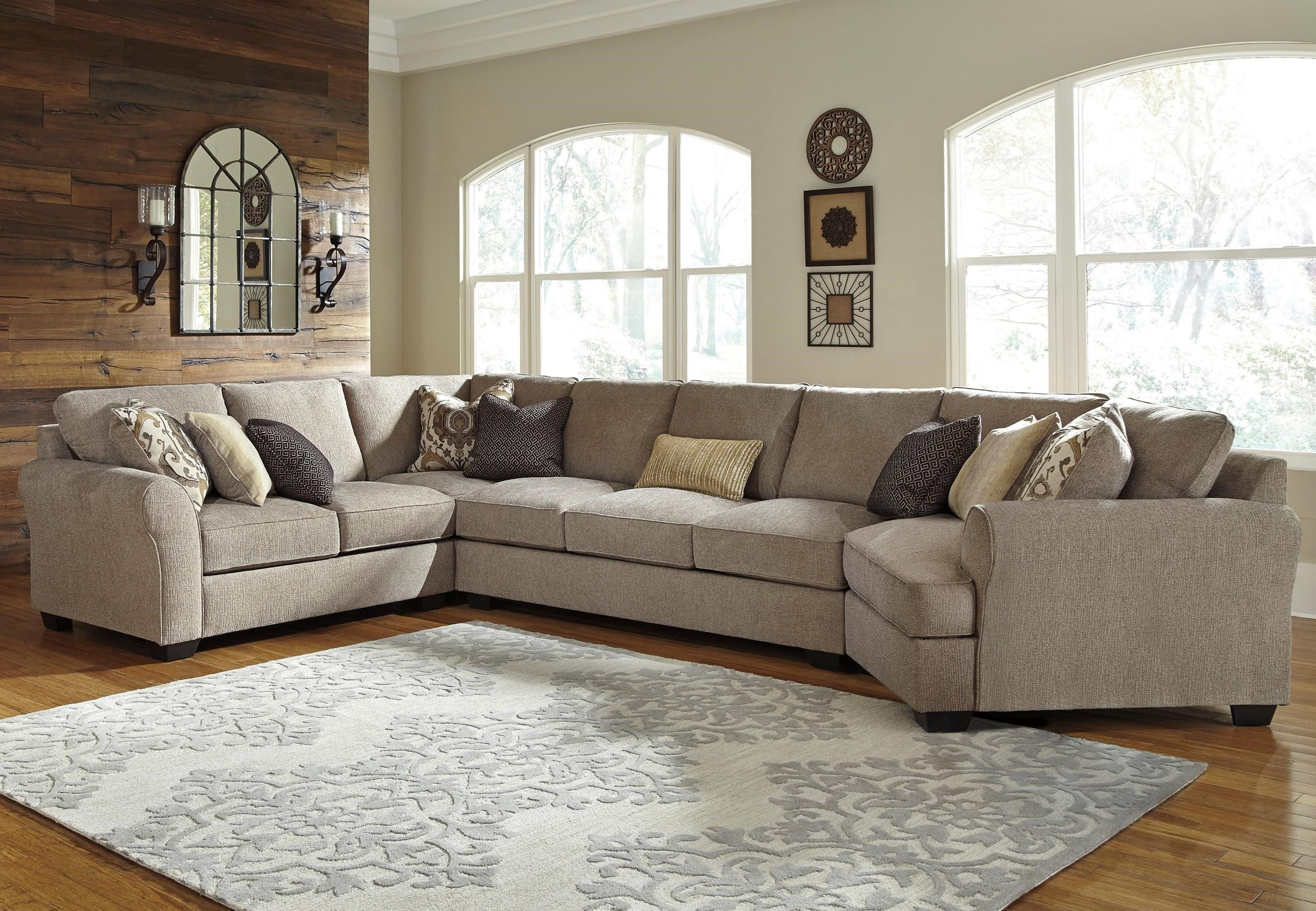 Signature Design By Ashley Living Room Pantomine Right Chaise Sectional