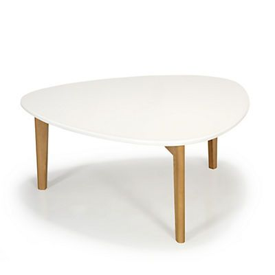 Siwa Table basse vintage scandinave blanche 80cm | New Home | Pinterest