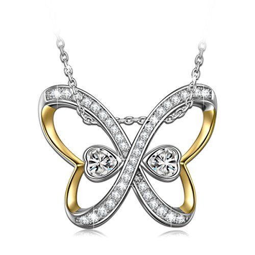 Gifts for Women NINASUN Golden Butterfly s925 Sterling Silver