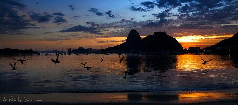 Amanhecer Hoje - Praia de Botafogo - Pão de açucar Dawn - Today - Sugar Loaf - Botafogo Beach  #RiodeJaneiro #Rio450 #SugarLoaf #Botafogo