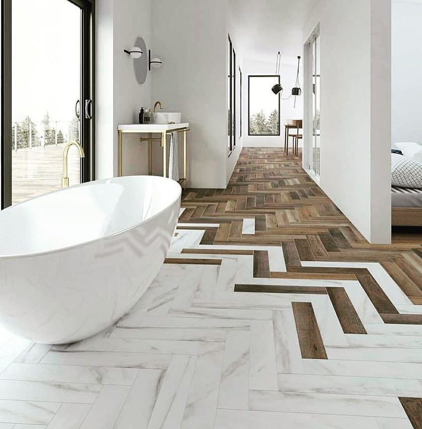 Unbiased Complete Review Of Wood Look Tile Including Pros Cons Porcelain Vs Ceramic Cost Durability Beautiful Bathrooms Modern Bathroom Design Floor Design