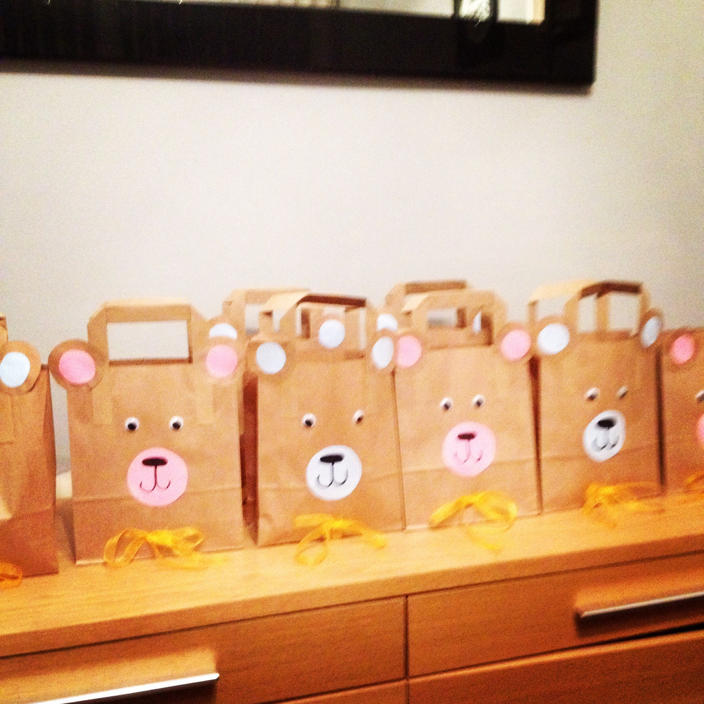 My teddy bear party bags! The kids loved them.