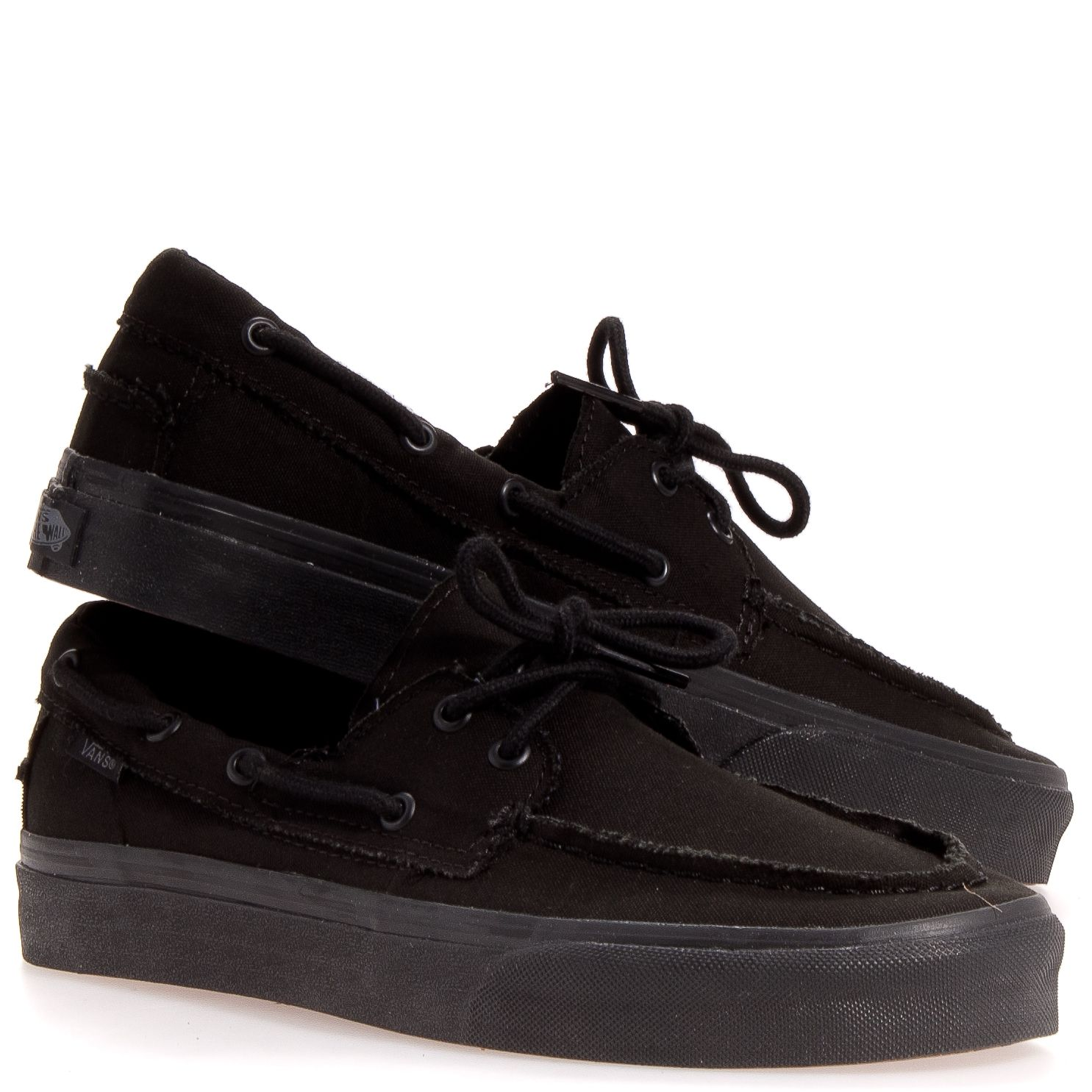 vans leather black mono