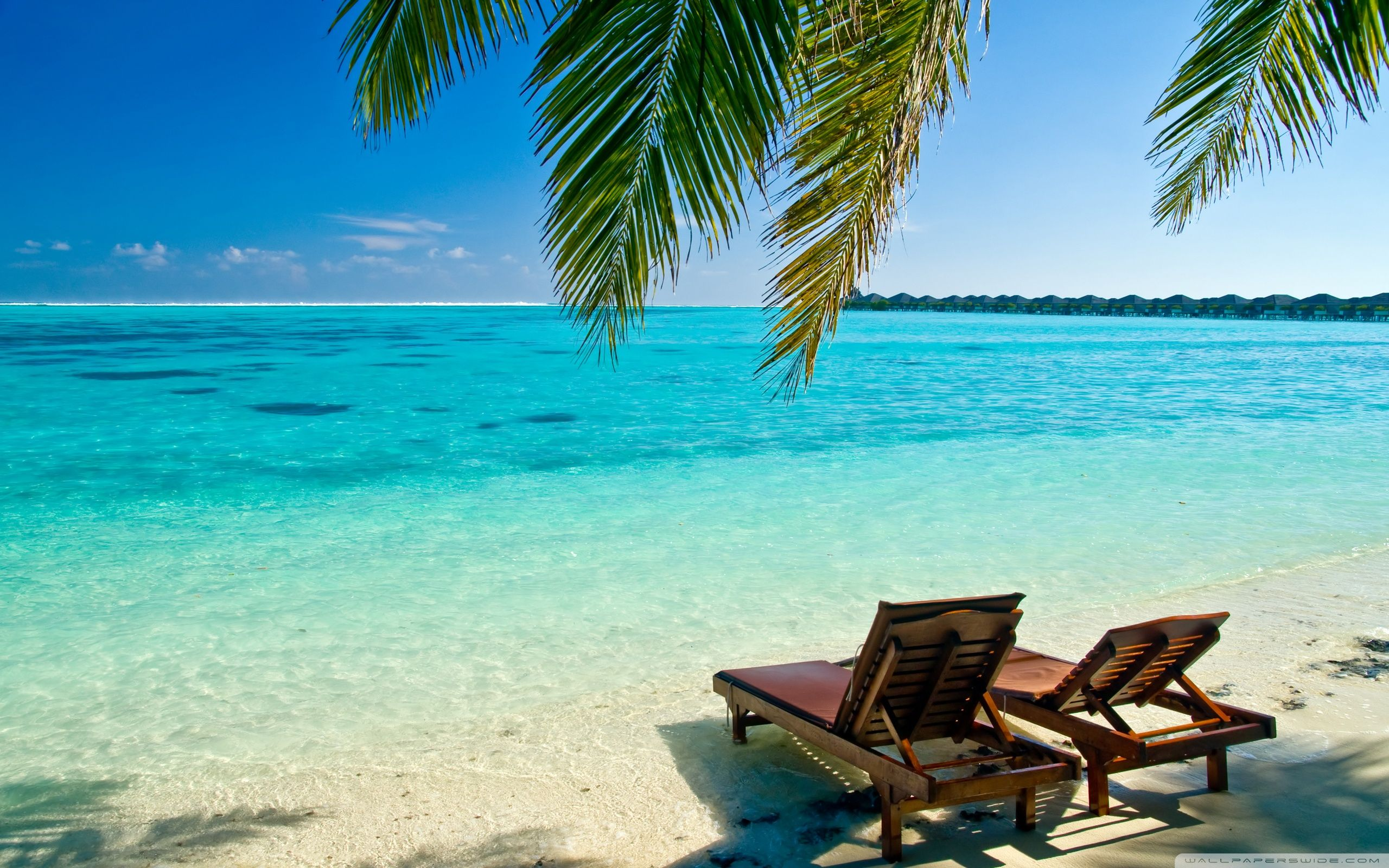 Beach with chairs - Image For Beach Chair Wallpaper Background 14211