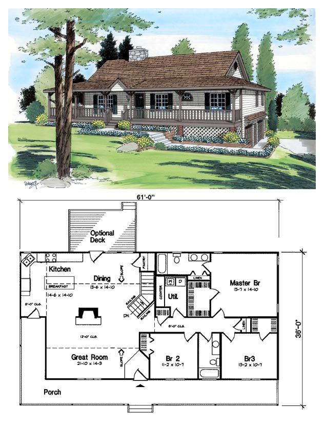 Ranch Style House Plan 24249 With 3 Bed 2 Bath 2 Car Garage Ranch Style House Plans Ranch Style Homes House Blueprints