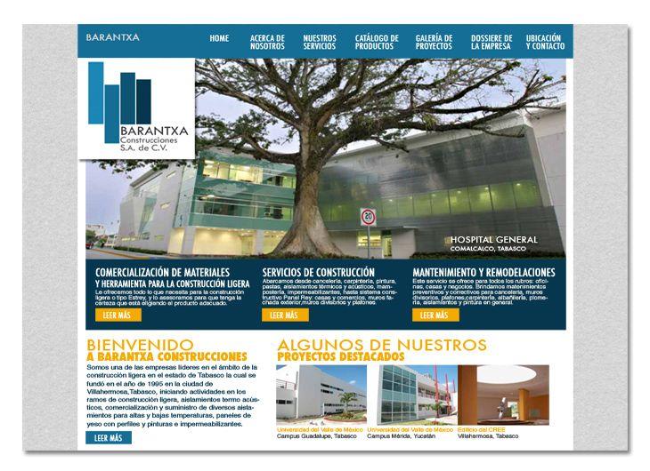Sitio web para constructora en Tabasco, México (Barantxa)