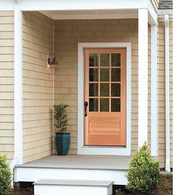 Exterior Hemlock Solid Wood Stain Grade French Doors 12 Lite Raised Bottom Panel Ebay Wood Exterior Door Exterior Doors Front Doors With Windows