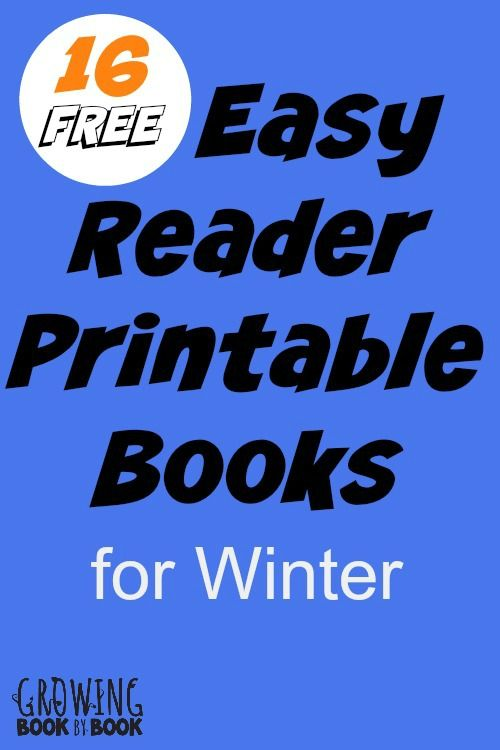 printable books for kids 16 free easy reader books all with a winter theme - Kid Free Books