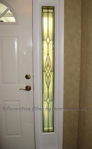 Stephen S Window Sidelight Privacy In 2020 Stained Glass Door Window Film Front Door Front Doors With Windows