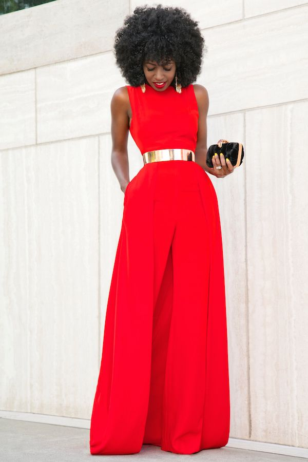 Red Cape Jumpsuit | Women's Fashion | Pinterest | Cape jumpsuit