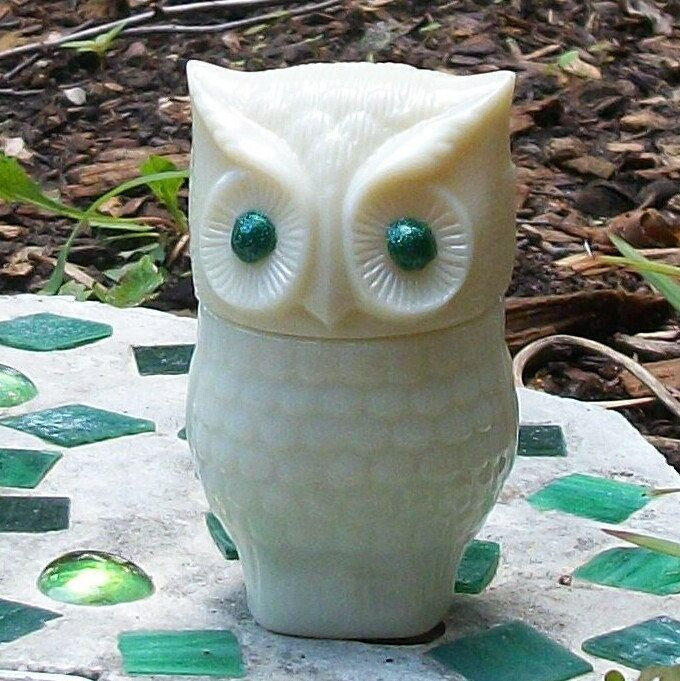 Green Eyed OWL Stash Nug Jar by ArtZodiac on Etsy, $14.00