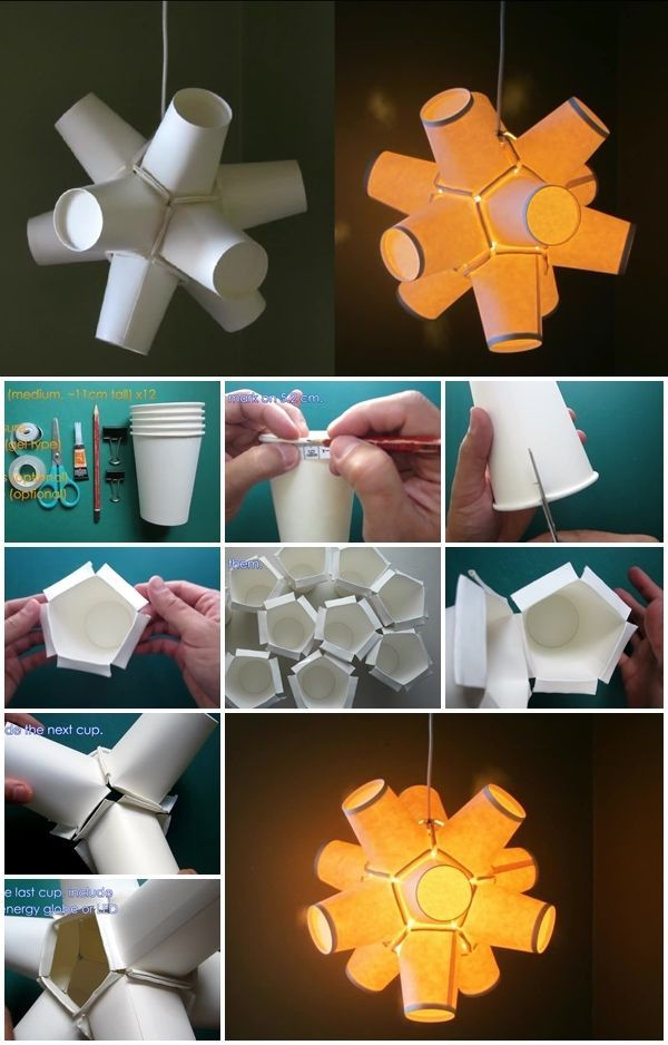 How to Make Paper Cup Lamp How