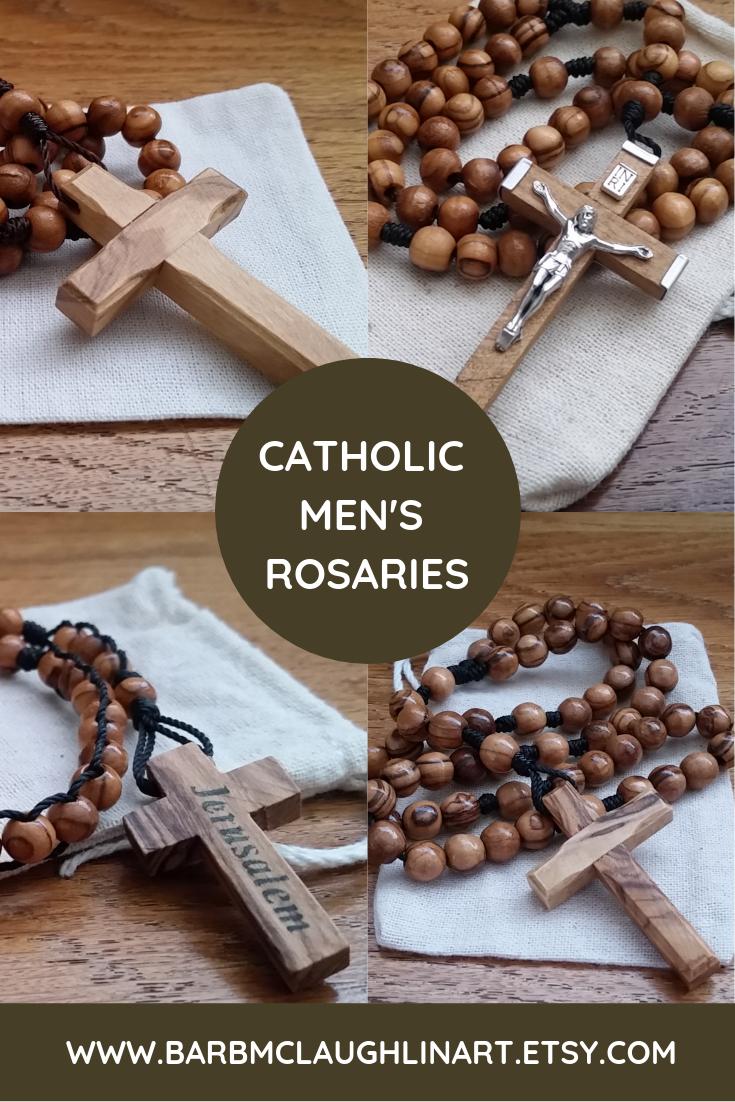 Catholic Mens Rosaries Handmade Rosaries By Barbara G Mclaughlin