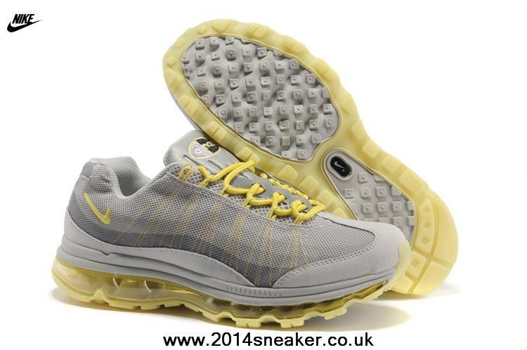 553554 070 Women Nike Air Max 95 DYN FW Shoes LightGray Lemon