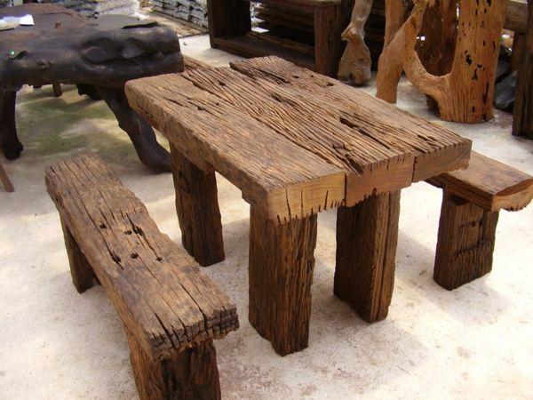 Altholz Esstisch echtholzmöbel altholz esstisch sitzbänke einrichtungsideen