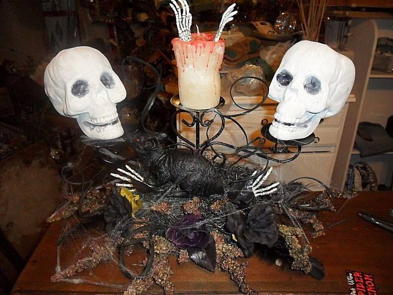 skeleton candelabra