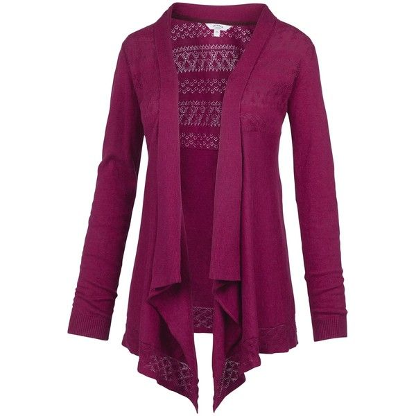 Fat Face Callie Waterfall Cardigan, Sum Berry featuring polyvore ...