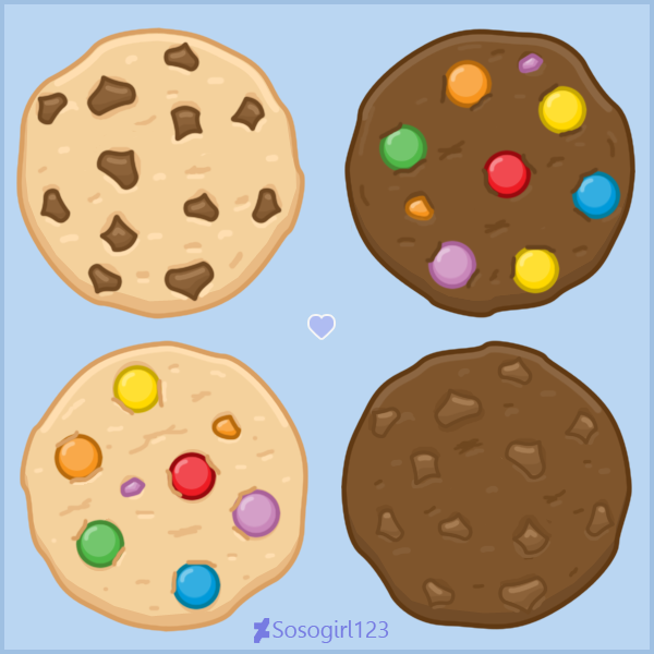 Cookies By Sosogirl123 Deviantart Com On Deviantart Cookies Cookie Vector Smarties Chocolate