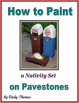 How to Paint Unique, Outdoor Nativity Sets on Garden Pavestones