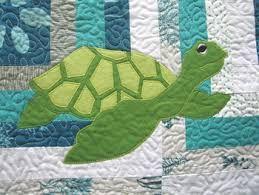 Risultati immagini per sea turtle baby quilt