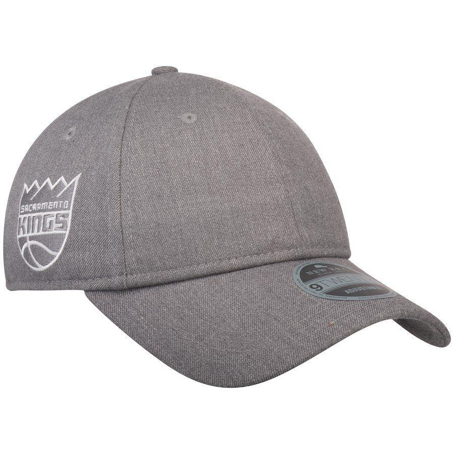 98cd025d275 Men s Sacramento Kings New Era Gray Black Label Series Suiting 9TWENTY  Adjustable Hat