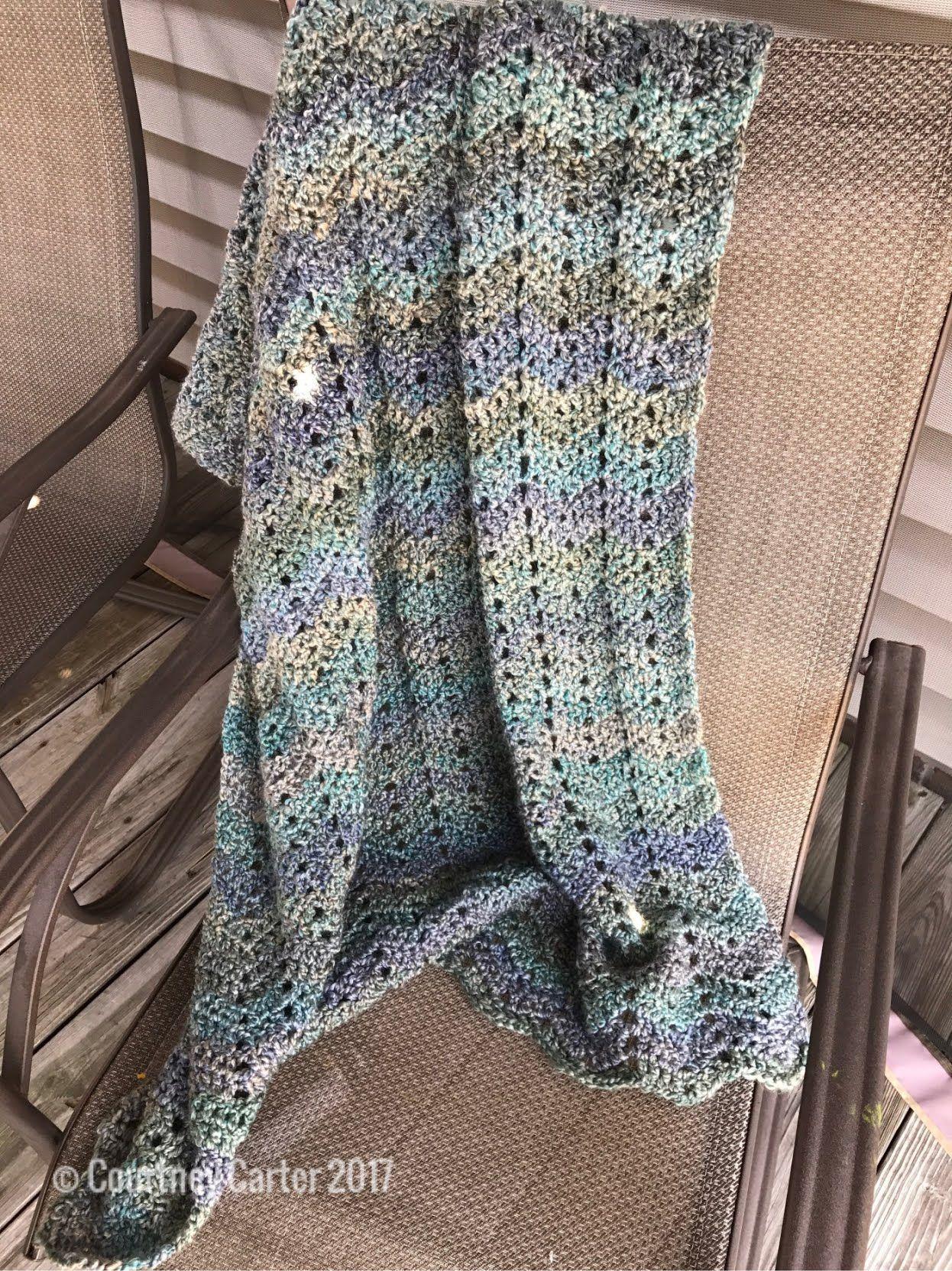 Homespun Peep Hole Chevron Afghan – Crocheting Crazy | Crochet is my ...