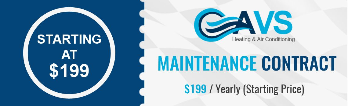 Maintenance Contract Starting At 199 Yearly Avs Heating And Air