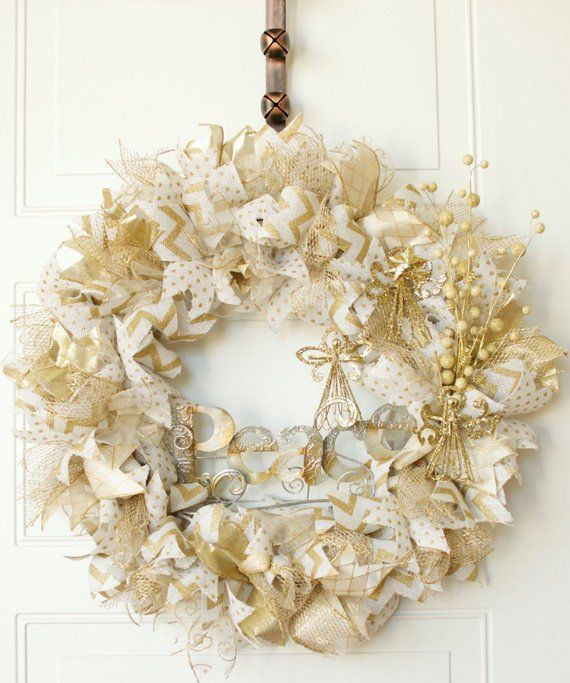 Burlap Christmas Wreath 25\